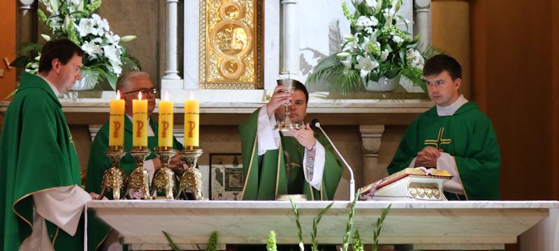 Ks.Grzegorz Kaczorkiewicz odprawił Mszę św.wKonkatedrze