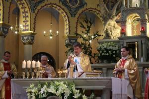 Ks. Łukasz Urban odprawił Mszę św. w Konkatedrze