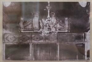 Wnętrze kościoła - organy prawdopodobnie z 1797 roku.