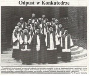 19.05.1996 r. - Gazeta Ostrowska. W niedzielę 12 V odbyły się w ostrowskiej Konkatedrze uroczystości odpustowe ku czci św. Stanisława biskupa i męczennika.